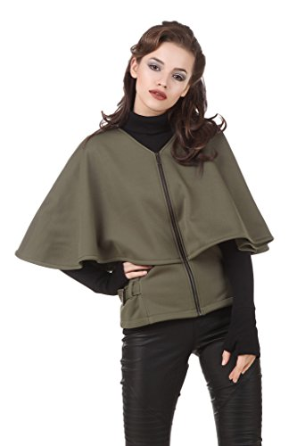 Texco Olive Green Winter Cape Jacket