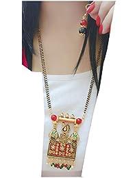 1b54e00f6 Bhagya lakshmi Women s Pride Navratan Mangalsutra With Earrings For Women