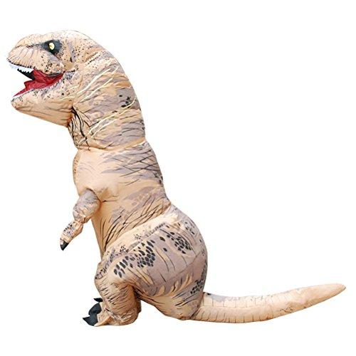 aufblasbare Dinosaurier Kostüm Halloween Cosplay Phantasie Party Kleid (braun) (Kreative Paar Kostüme Für Halloween)