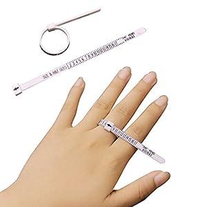 AOLVO Multisizer, ökonomisch, Ringmaß Gauge Juwelier Ring Finger Stick Dorn Messung Tools für Männer, Frauen und Kinder/Karo Ring Größe (1–17USA Größen)