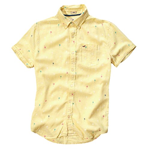 hollister-uomo-patterned-ventura-beach-maglietta-yellow-medium