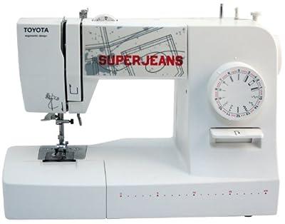 Máquina de coser Toyota SUPERJ15WE - (Eléctrico, 65 W, 220 x 300 mm, Color blanco, 410 mm, 198 mm)