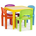 Tot Tutors Kids Primary Table and 4-Chairs Set, Plastic