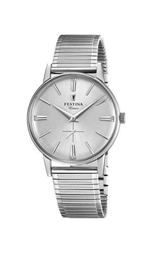 Festina Herren Analog Quarz Uhr mit Edelstahl Armband F20250/1