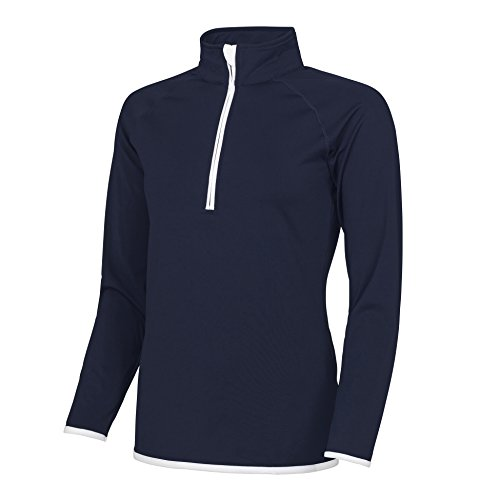 AWDis - Haut de sport à col zippé - Femme Bleu Marine