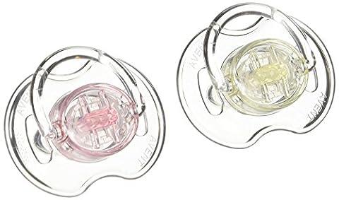 Avent 2 Sucettes Orthodontiques Classic Transparentes 0-6 Mois - Couleur
