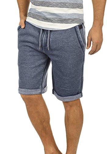 Blend Jonny Herren Sweatshorts Kurze Hose Jogginghose Mit Fleece-Innenseite Und Kordel Regular Fit, Größe:L, Farbe:Navy (70230) -