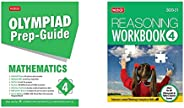 Olympiad Prep-Guide Mathematics Class - 4&Olympiad Reasoning Workbook - Class 4(Set of 2 Bo