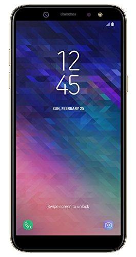 Samsung Galaxy A6 Smartphone, 14,25 cm (5,6 Zoll), 32GB Interner Speicher und 3GB RAM, gold - Deutsche Version