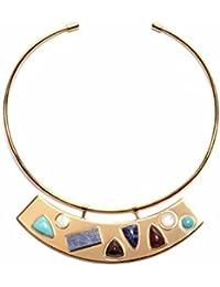 Lizzie Fortunato - Collar de latón con nácar (16.5 cm)