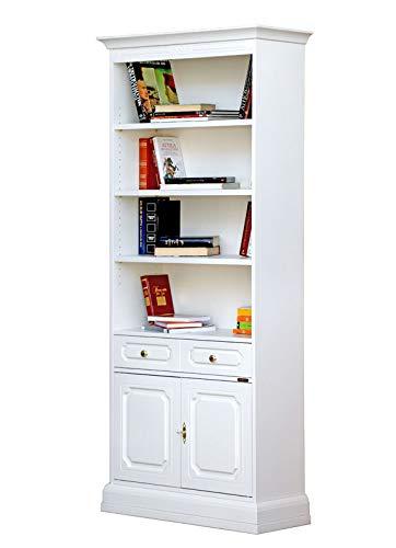 Libreria Con Ante In Vetro Prezzi.Libreria Alta Da Ufficio Con 2 Ante E Un Cassetto Ripiani