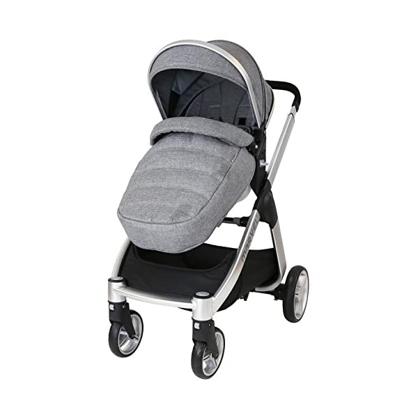 Marvel 2in1 Pram - Dove Grey (+ x2 Footmuff + x1 Car Seat Raincover) iSafe Includes Free Carseat Raincover + Carseat Footmuff + Stroller Footmuff Complete With Free Raincover For Seat Unit Complete With Free Boot Cover 3