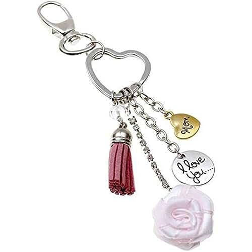 ofertas para el dia de la madre Cdet Llavero día de la Madre mamá de regalo en forma de corazón colgante rosa anillo de la amistad pareja