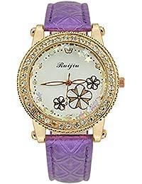 13e13d70d Moderno Reloj de Cuarzo analógico para Mujer, Modelo Ginebra. Reloj Doble,  con Pila