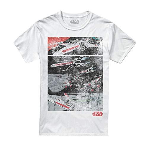 Star Wars X-Wing Panels, T-Shirt Uomo, Bianco White, Large