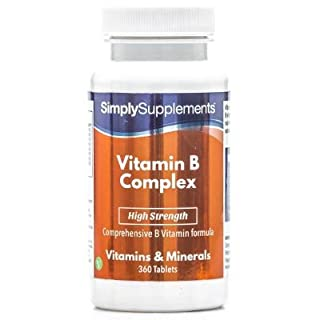 Vitamin B Complex Tablets | High Strength Premium Formulation Includes All 8 B Vitamins, including Biotin & Folic Acid | Supports Brain Function & Energy Levels | 360 Tablets | Manufactured in the UK