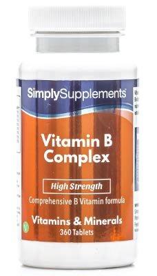 Vitamina B complex- Con todas las vitaminas del grupo B- Apta para veganos - ¡Bote para 1 año! - 120 comprimidos -Simply Supplements