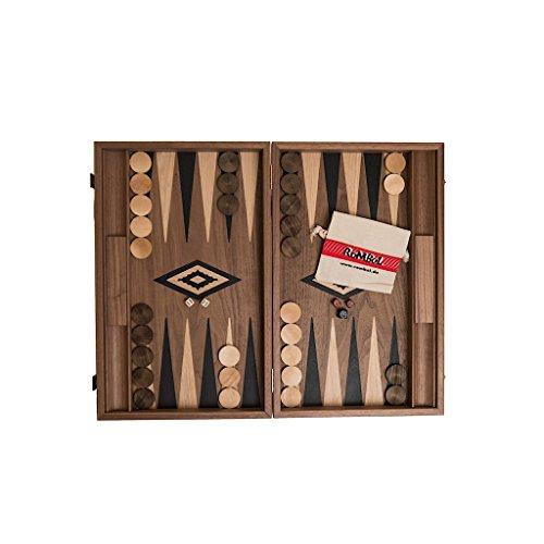 Backgammon, Luxus, Kassette, Intarsie, Holz, 47,5 cm