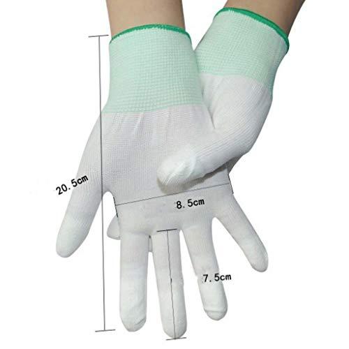 CZLSD Handschuhe Arbeitsversicherung Verschleißfeste Arbeit Nylon Industrial Dünnschliff Elastic Line Mit Kleber Dry Live Weiblich Männlich Anti-Statik-Anti-Rutsch-Gummi. - Elastic-kleber