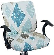 XNN غطاء كرسي مكتب الكمبيوتر - أغطية كراسي عالمية واقية وقابلة للتمدد غطاء كرسي دوار قابل للتمدد