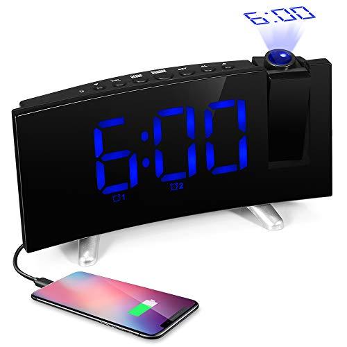 ILifeSmart Radio Despertador Digital Reloj Proyector