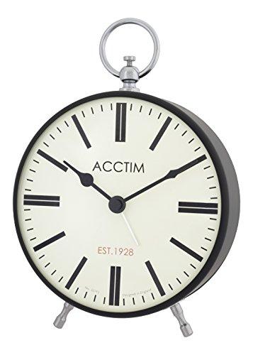 Acctim 14883 Harris Reloj grande metálico con alarma, color negro