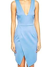 Asos Origami robe bleue