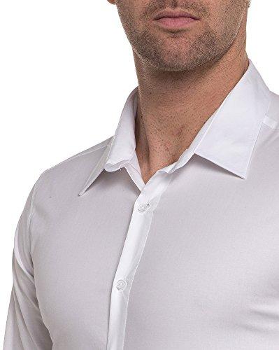 BLZ jeans - plain white shirt chic Weiß