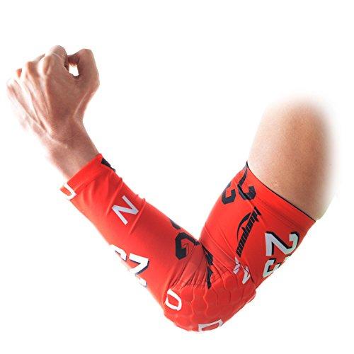 COOLOMG 1PCS Bambino Bambini Gioventù vassoio per braccio Maniche, Pad Protector Gear Protezione Sport Stretch Basket Running ciclo adulto, Forever 23, S