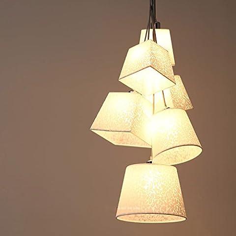 Moderne einfache Kronleuchter Mode kreative Mahlzeit hängende Lampen personalisierte Kunst Esszimmer Hotel Designer Wind Glocke hängende Lichter,6 Kopf