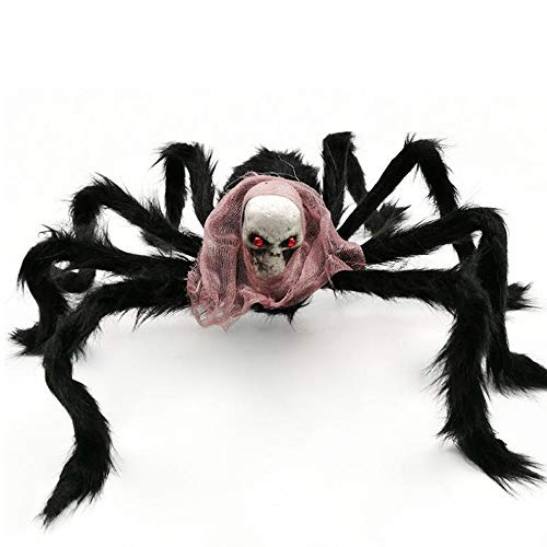 Ghost Head Plüsch Spider Bar KTV Home Grauenhafte Dekoration Terror Halloween Prop Black Spider Spielzeug,Color2 ()