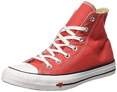 Converse Women's Textile Sedona Red/Black/White Sneakers-6 UK/India (39 EU) (8907788162604)