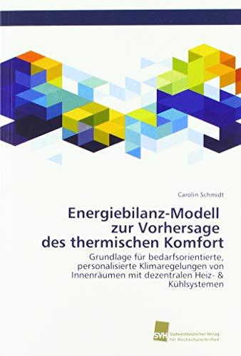 Thermischer Komfort (Energiebilanz-Modell zur Vorhersage des thermischen Komfort: Grundlage für bedarfsorientierte, personalisierte Klimaregelungen von Innenräumen mit dezentralen Heiz- & Kühlsystemen)