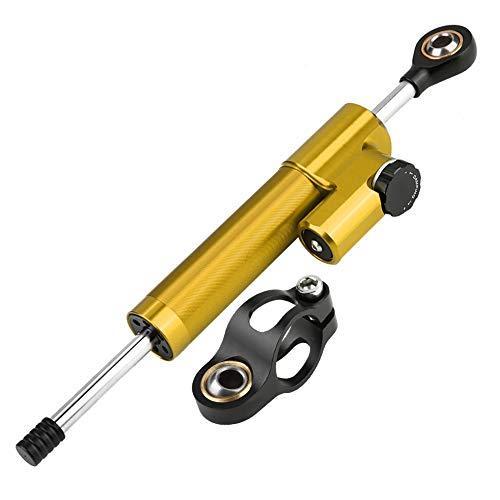 Lenkungsstabilisator, Universal Motorrad Aluminiumlegierung Lenkungsdämpfer Stabilisator(Golden & Schwarz) -
