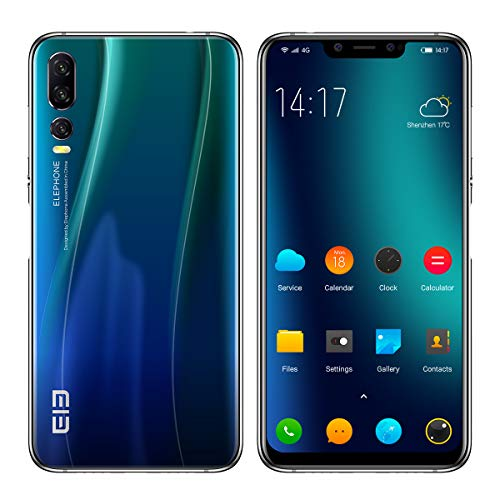 "ELEPHONE A5 Smartphone Ohne Vertrag - 6,18"" FHD + Android 8.1-Handy, Schlankes und Elegantes Design, Helio P60 6 GB + 128 GB, AI 5-Kamera (20MP + 2MP Frontkamera), 4000 mAh - Dämmerung Blau"