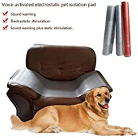 Pawaca - Almohadilla de Entrenamiento para Mascotas en Interiores con Choque eléctrico, Control de Voz. Barrera para Mascotas para Zonas Fuera de límite, para Perros y Gatos