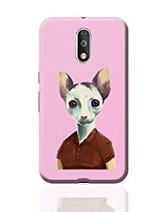 PosterGuy Moto G4 Plus Covers & Cases - Cat Lady Art Illustration | Designed by: Jayman Artworks