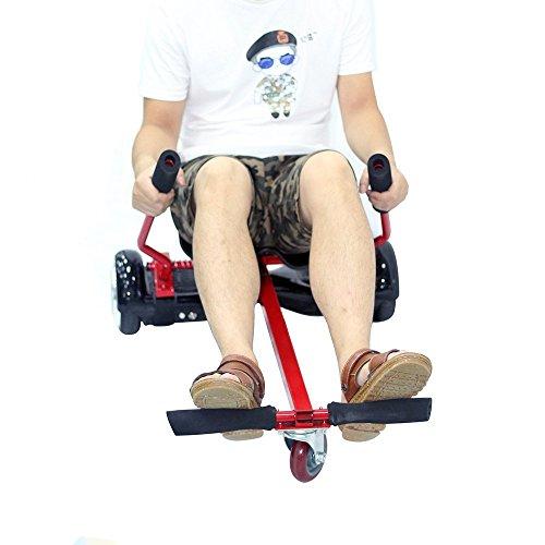 Hoverkart - Mylot Rahmen mit Polyurethan-Leder-Sitz, für Hoverboard, verstellbar, 16,5cm Zweirad, Roller zum selbst balancieren, Orange