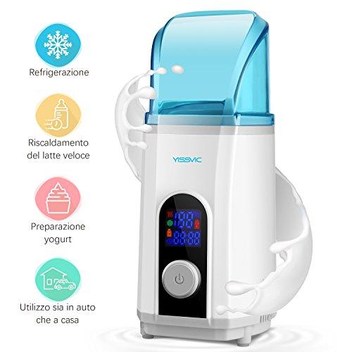 Yissvic Scaldabiberon Elettrico e Multifunzionale Yogurtiera Schermo LED Preimpostazione Intelligente Capacità 450ml