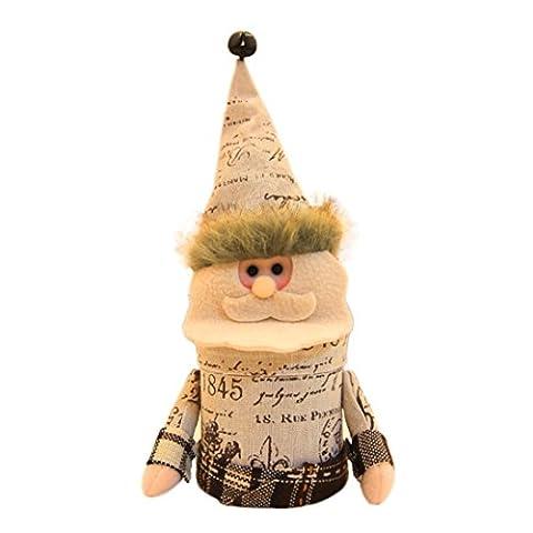 Sankt Claus Schneemann Elch Weihnachten Süßigkeiten Verpackung Weihnachten Süßigkeiten Glas Hirolan Schön Weihnachten Ornaments Geeignet zum Weihnachten, Boutique, Warenhäuser, Zuhause (B)