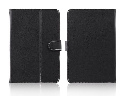 NEW Black Synthetic Leather Universal 7 inch Tablet Flip Folio Case Cover for Samsung Apple Micromax etc.