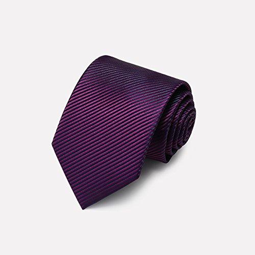 Krawatten YIXINYI Hochwertiges Polyester Männer Diagonale Streifen Mode-Business-Kollokation Lila, Blau 3,5 * 8 * 145 cm (Farbe : Purple) - Blau Diagonale Streifen-krawatte