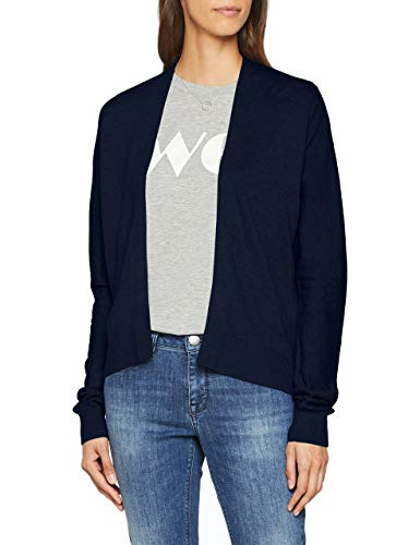 OPUS Damen Strickjacke Doloran, Blau (Simply Blue 6058), 40