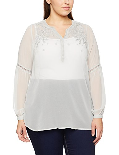 Yours Clothing Bell Sleeves, Camicia Donna Grey (Grey)
