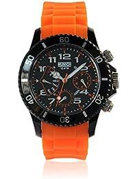 Munich MU119.5A - Reloj Unisex movimiento de quarzo con correa de caucho naranja