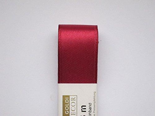 STOFF- BAND Doppelsatin von GOLDINA 40 mm / 3 m. Satinband in der Farbe pink fuchsia ORCHIDEE -25 Orchidee-band