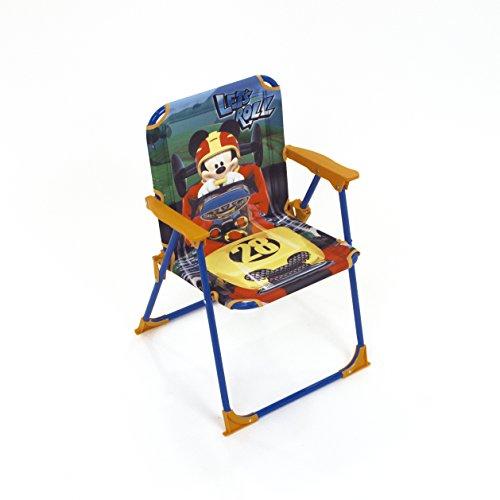 Arditex Silla Plegable para niños bajo Licencia Mickey Mouse en Metal Dimensiones: 38x 32x 53cm, Tela, 38x 32x 53cm