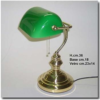 Bank lamp lampada churchill da tavolo biblioteca studio - Lampada verde da tavolo ...