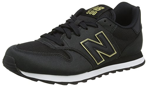 New Balance Damen GW500 Sneaker, Schwarz (Black/gold/GW500KGK), 40.5 EU (Turnschuhe Gold Schwarze Und)