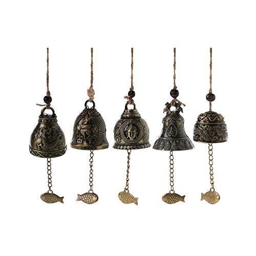 WOHAOKESHUI Windspiele 5 stücke Hohe Qualität Buddha Statue Dragon Bell Segen Windspiel Lucky Home Auto Hängen Dekor Geschenke